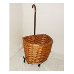 Traditional Walking Stick Handle Shopping Trolley