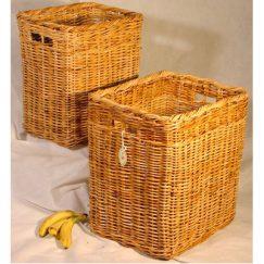 Tall Rattan Oblong Log Baskets