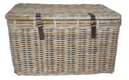 Rectangular Trunk with Leather Straps