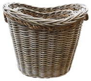 Oval Basket with Rope Handles