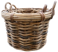 Round Basket with Ear Handles