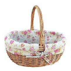 Small Deluxe Shopper with Rose Lining
