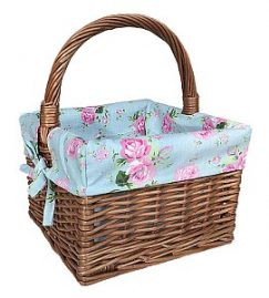 Small Double steamed Square Shopper with Cottage Rose Lining