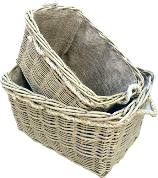 Deep Mill Basket Hessian Lined