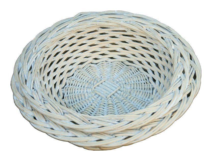 Provence Round Tray Plaited Border