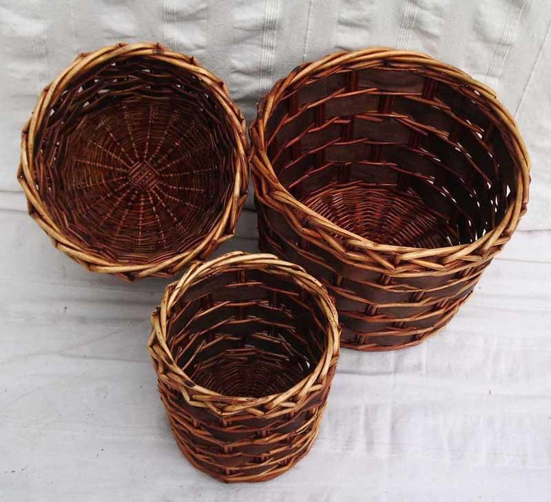 Round Brown Bin/Pot