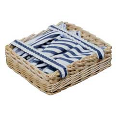 Club Stripe Table Cloth/Napkin Holder