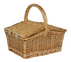 Small Double Lidded Hamper
