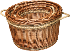 Buff Rope Handled Log Basket