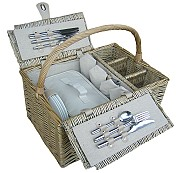 Antique Wash, Lidded, 4 Person Hamper