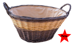 Two Tone Wash Basket with Lining