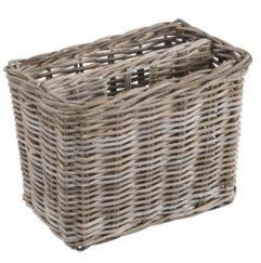 Grey Rattan Magazine Basket