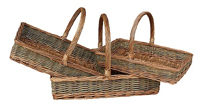 Flat Rectangular Country Trug/Sandwich Basket