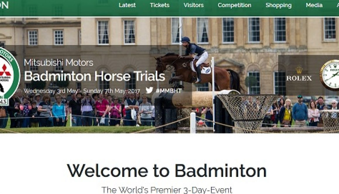 Jack Straws will again be showing our baskets at the Badminton Horse Trials.