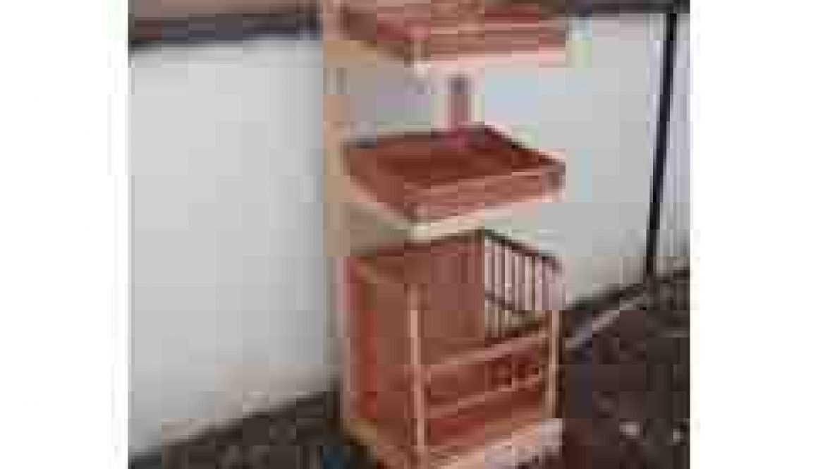 A Beechwood Display Stand with 3 baskets on- SALE now only 6 left!