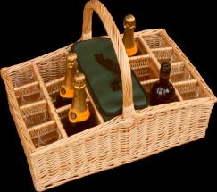 Jack Straws Baskets's Large Liquid Picnic Drinks Basket.