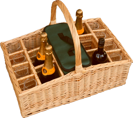 Jack Straws Baskets's Large Liquid Picnic Drinks Basket.